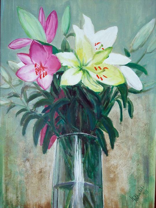 Lilies in a vase - Pęchalski Art
