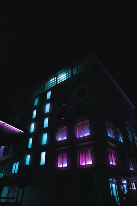 Cyberpunk Building - AdamVisuals