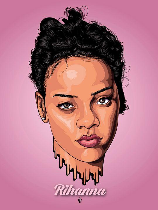 Rihanna (Vector artwork) - AdamVisuals