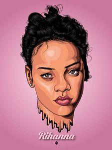 Rihanna (Vector artwork)