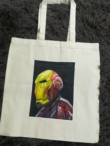 Hand-painted totebag