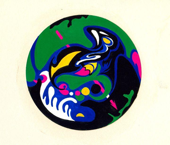 Native interpretation yin & yang - Clinton Michael