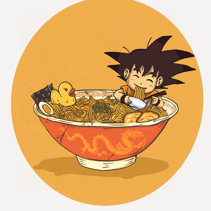 kid Goku in ramen - ARThur
