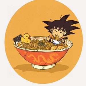 kid Goku in ramen