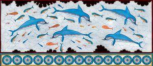 Dolphin fresco - minoan masterpiece