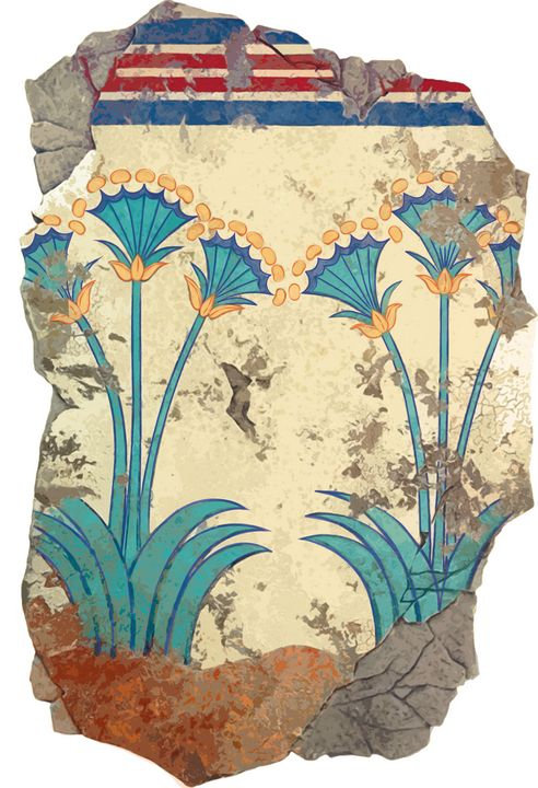 Minoan Lillies fresco - papaigraphics