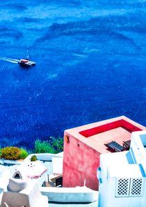 Santorini true blue - seaview
