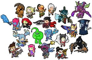 League of Legends sticker bundle #1 - Chibi Creations