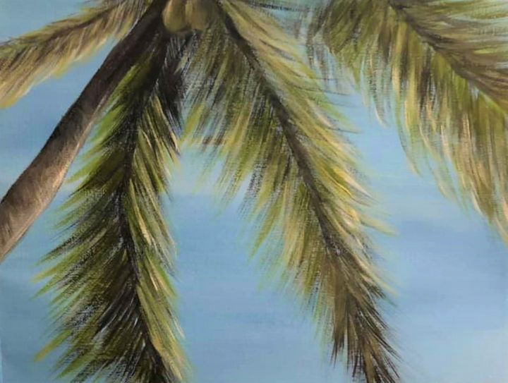 Under the palm tree - Sarah's Art