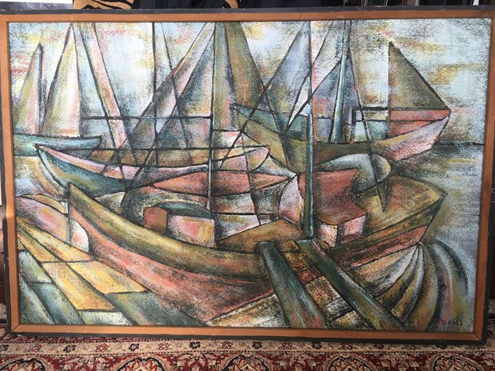 """""""The Harbour"""" original by D. Hall - Material Possessions"""