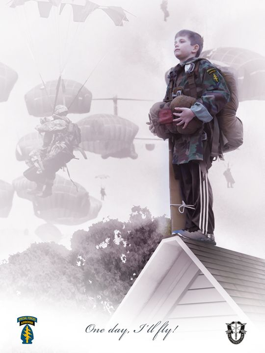 One day, i'll fly! Special Forces - Josh King Creative