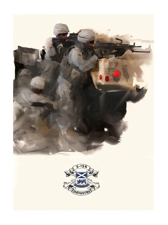 Firefight- 3/156 Infantry - Josh King Creative