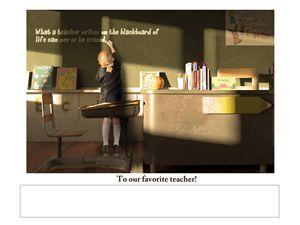 Favorite Teacher - Josh King Creative