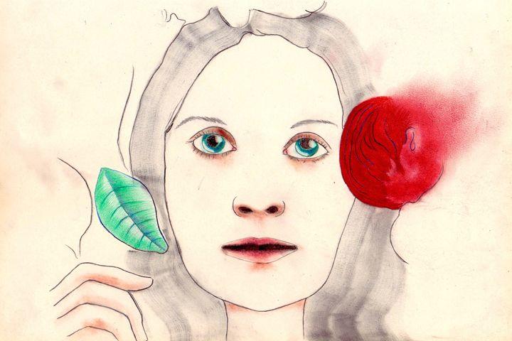 The girl with the flying rose - Antonio Borrero