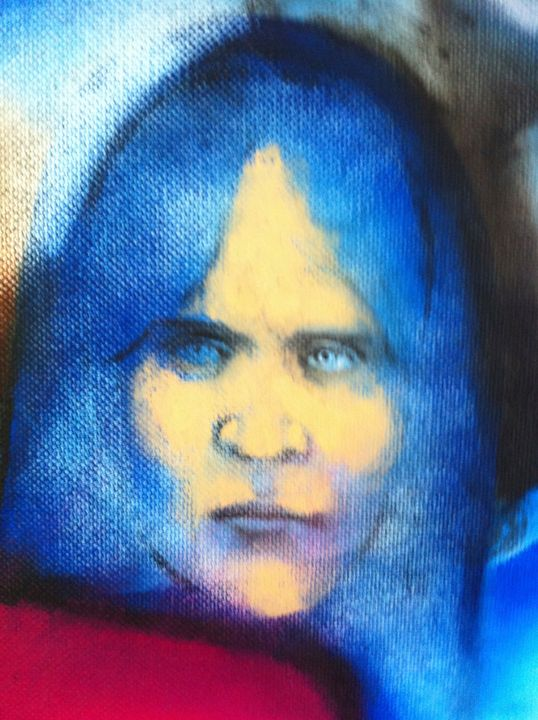 The blue lady - Antonio Borrero