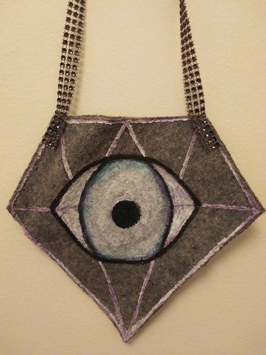 Diamond white eye purse - Funk it UP designs