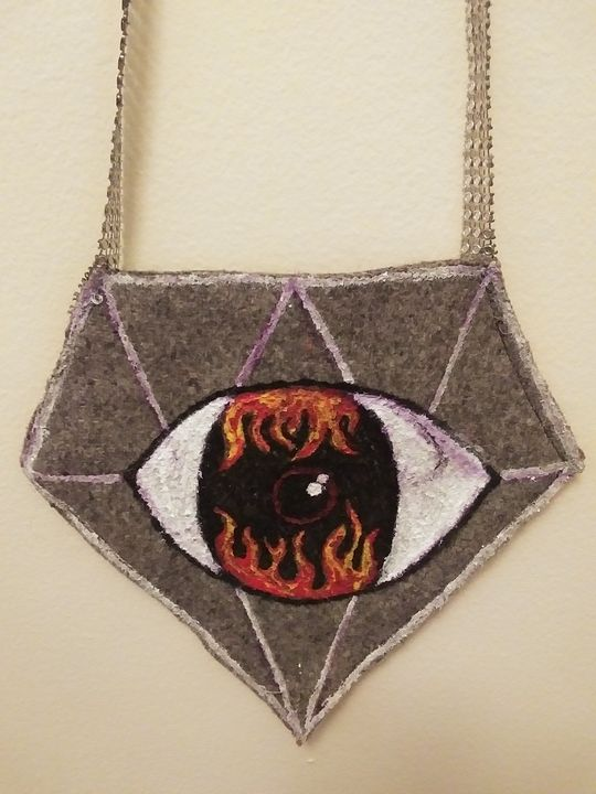 Hells Eye diamond purse - Funk it UP designs