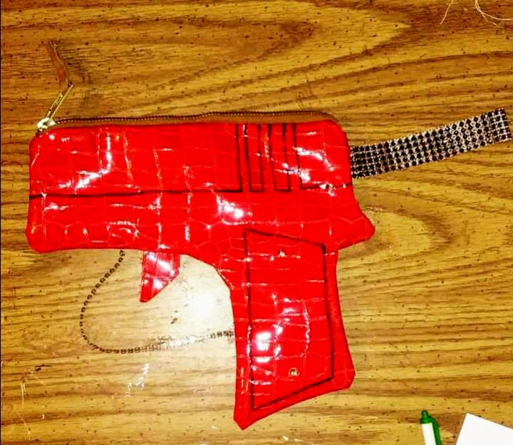 Blood red gun purse - Funk it UP designs