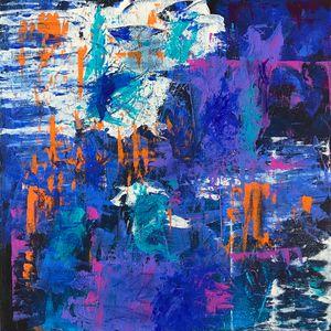 City Walls - Blue - Rebecca Cudlipp Art