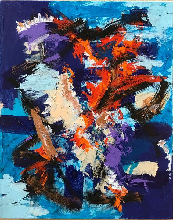 Tangled in Blue - Rebecca Cudlipp Art