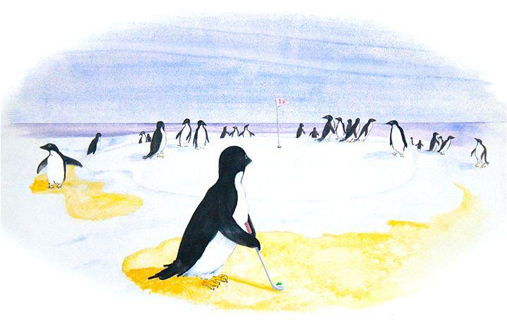 Chipper - McGraw original art watercolors/oils