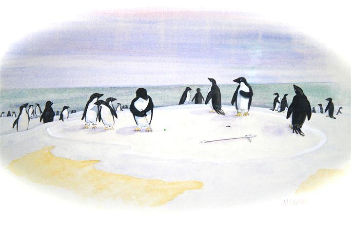 Putter - McGraw original art watercolors/oils
