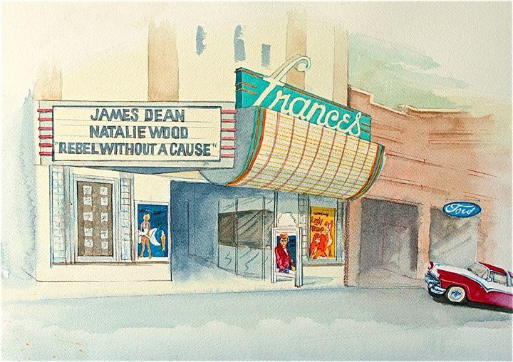 Frances Theater - McGraw original art watercolors/oils