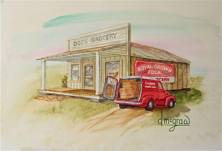 Doc's - McGraw original art watercolors/oils