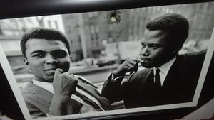 New York 1965 With Sidney Poitier in