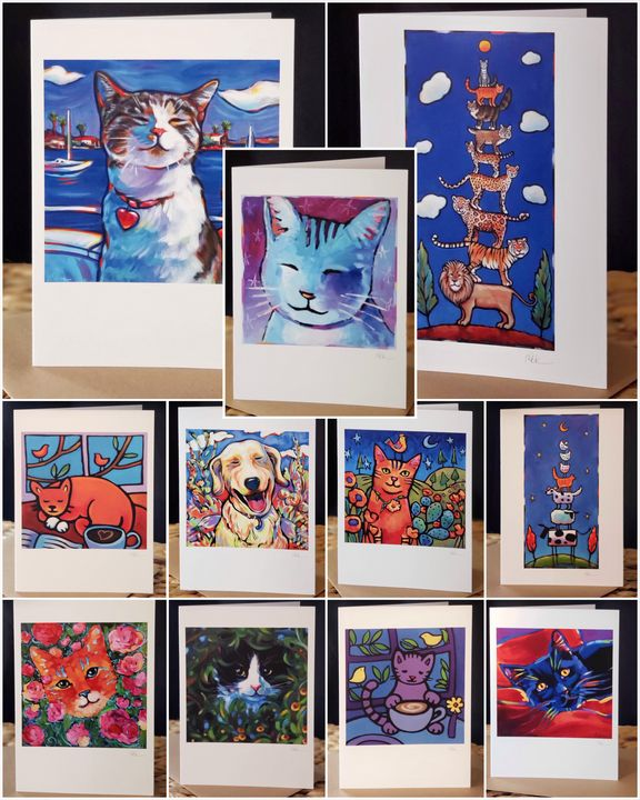 THE CAT PACK — 11 Card Set - MARNA SCHINDLER
