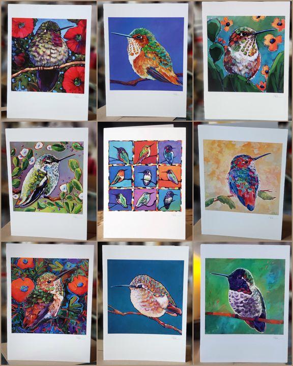 HUMMINGBIRD HAPPINESS! 9 Card Set - MARNA SCHINDLER