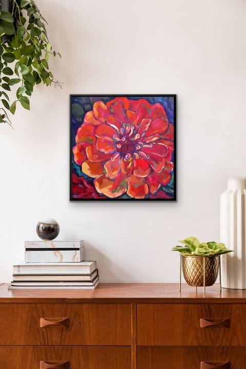 """""""Desert Flower"""" 20x20"""" framed print - MARNA SCHINDLER"""