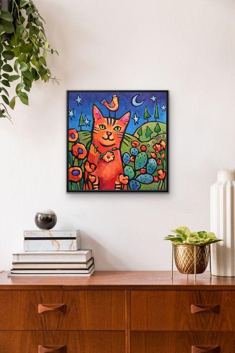 """Feline Fancy"" gicleé print - MARNA SCHINDLER"