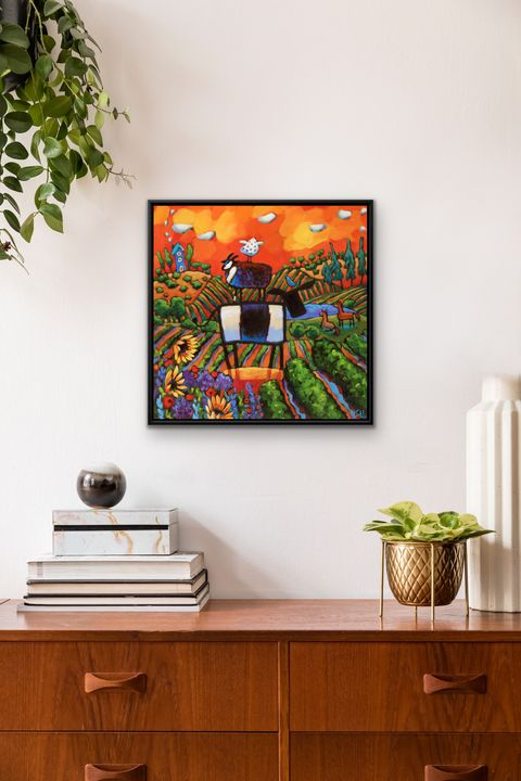"""Greet the Dawn"" 20x20"" framed print - MARNA SCHINDLER"