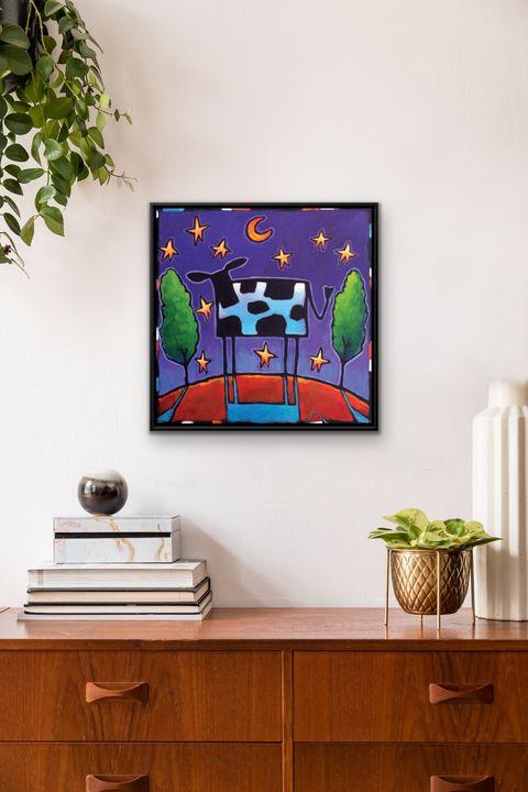 """""""Clara de Lune"""" 20x20 framed print - MARNA SCHINDLER"""
