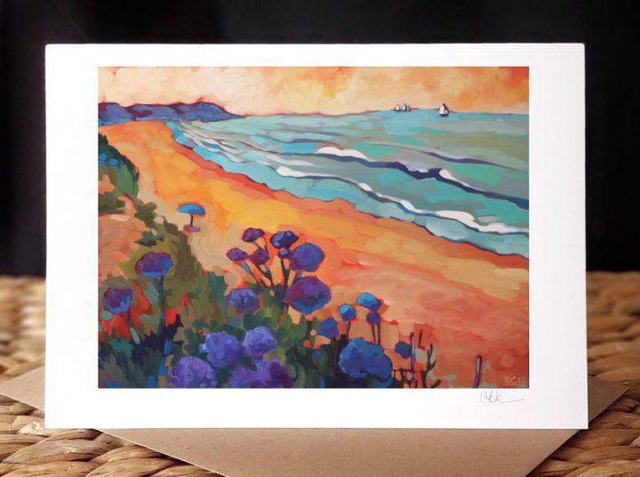 """""""La Jolla Shores and Sea Lavender"""" - MARNA SCHINDLER"""