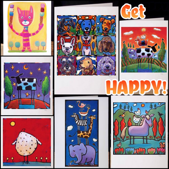 Get HAPPY! All new 7 card set - MARNA SCHINDLER