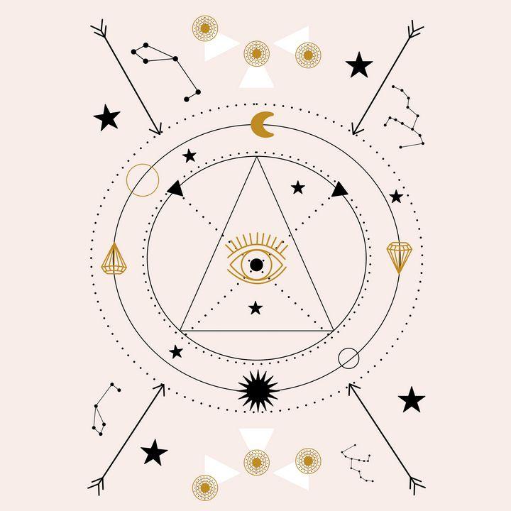 Devil eye and celestials - Andreea Eremia Design