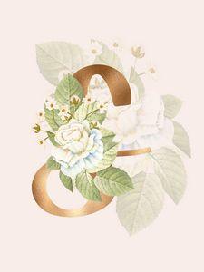 Gold Vintage Rose S Letter
