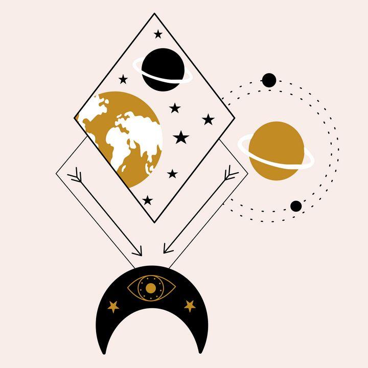 Geometrics and celestial elements - Andreea Eremia Design