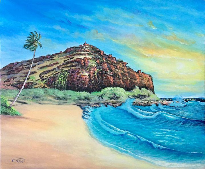 Lahi Lahi Mountain - Artist on the Beach