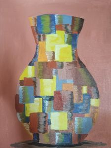 Checked jar - Aida's artworks