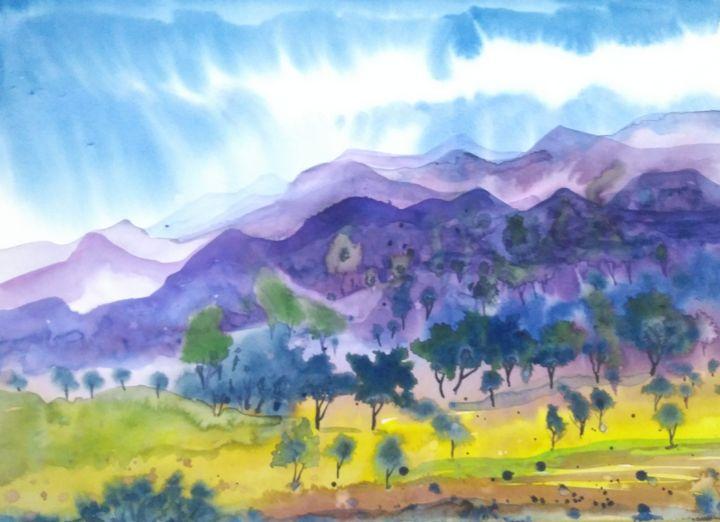 LANDSCAPE 103 - vibrant paintings
