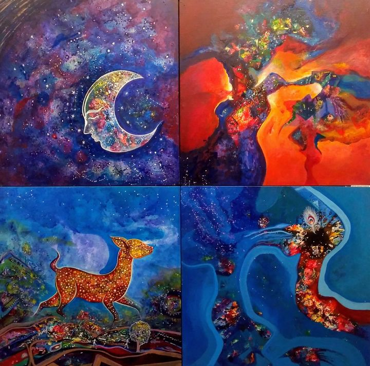 Glory of  univarse - vibrant paintings
