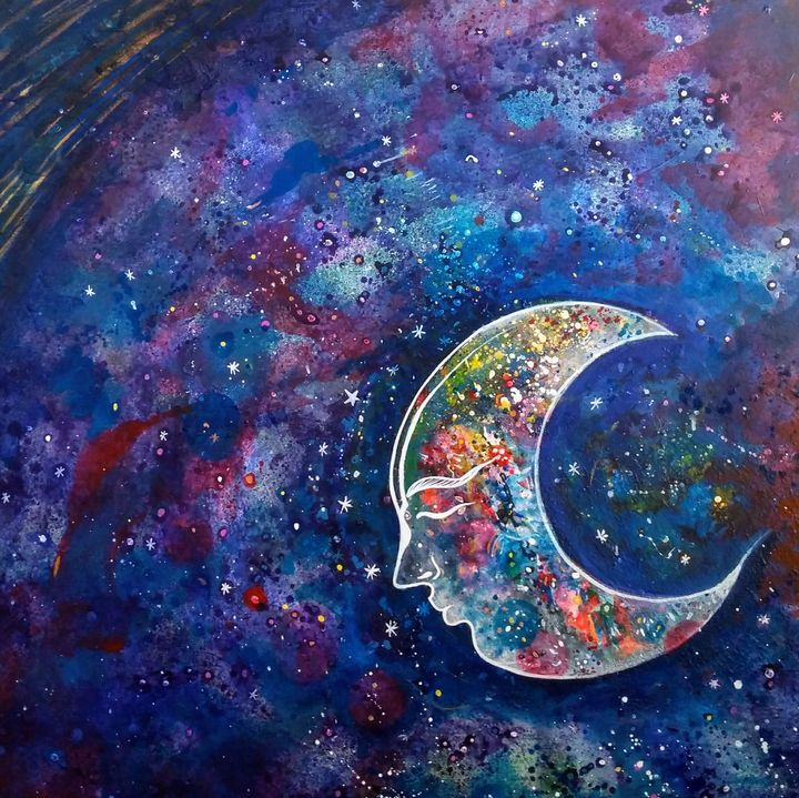 glory of universe - vibrant paintings