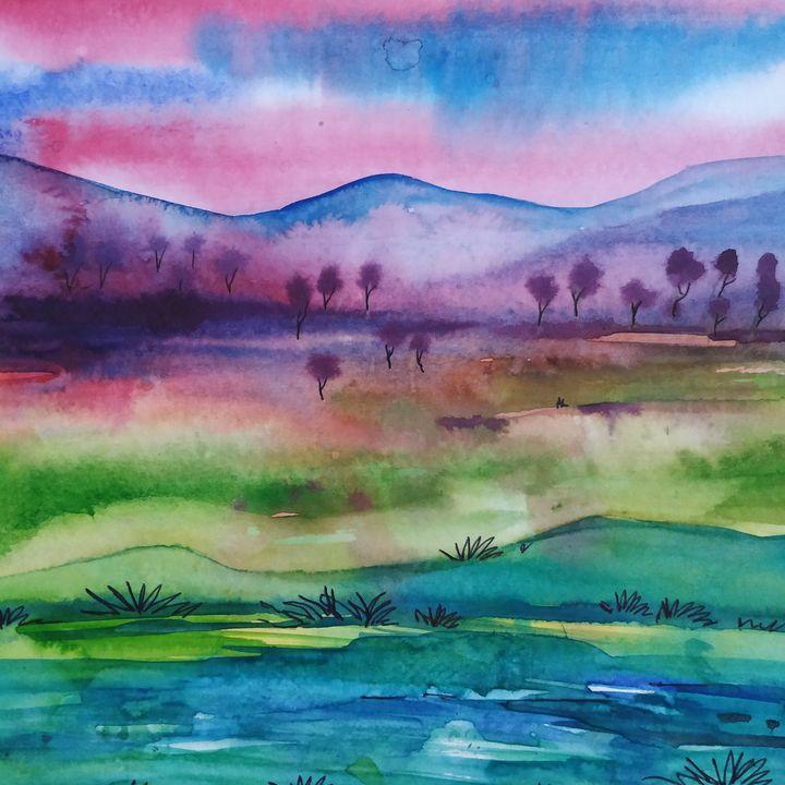 Landscape series - vibrant paintings