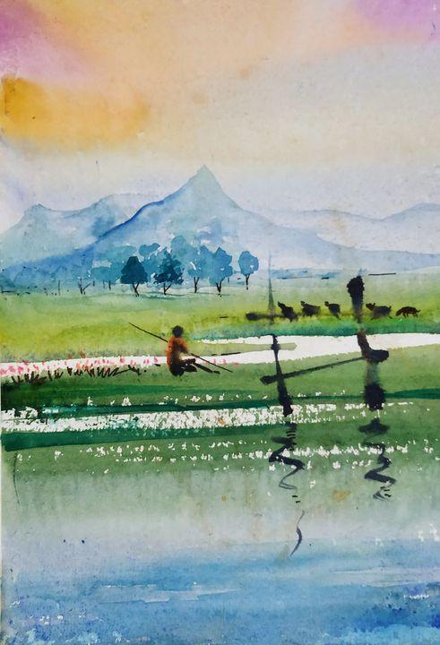 NATURAL LANDSCAPE SERIES - vibrant paintings