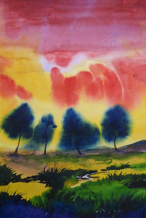 landscape 5 - vibrant paintings
