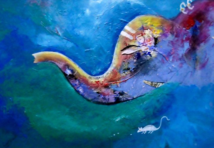 Ganesha III - vibrant paintings