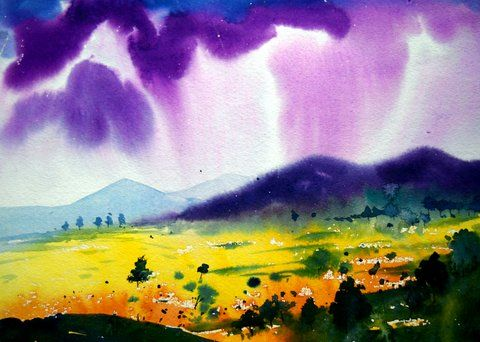 monsoon - vibrant paintings